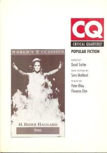 critical quarterly cover